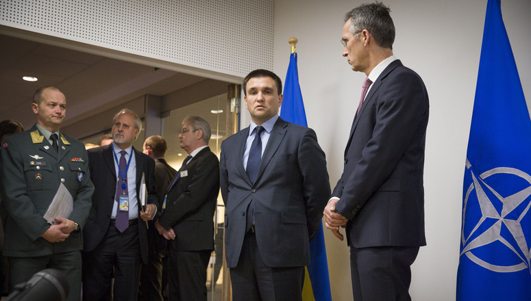NATO Secretary General Jens Stoltenberg meets with the Minister of Foreign Affairs of Ukraine, Pavlo Klimkin