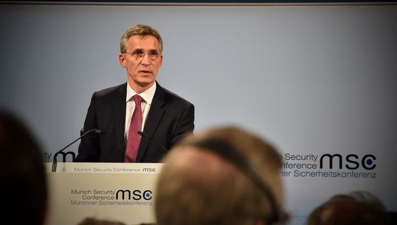 NATO Secretary General Jens Stoltenberg addresses Munich Security Conference