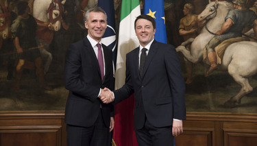 Opening remarks by NATO Secretary General Jens Stoltenberg at the joint press point with the Prime Minister of Italy, Matteo Renzi