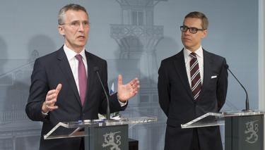 Opening remarks by NATO Secretary General Jens Stoltenberg at the joint press point with the Prime Minister of Finland, Alexander Stubb (followed by Q&A session)