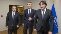The Minister of Foreign Affairs and the Minister of Defence of the Republic of Serbia visit NATO