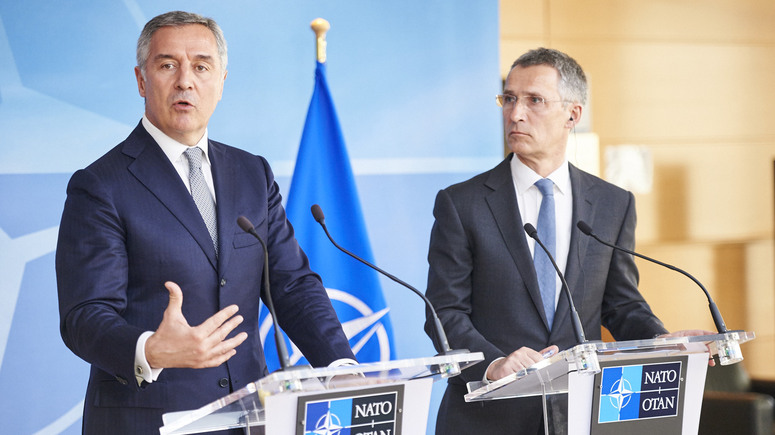 NATO Secretary General Jens Stoltenberg and Prime Minister of Montenegro Milo Djukanovic
