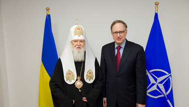 Head of the Ukrainian Orthodox Church of the Kyivan Patriarchate visits NATO