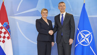 The President of Croatia visits NATO