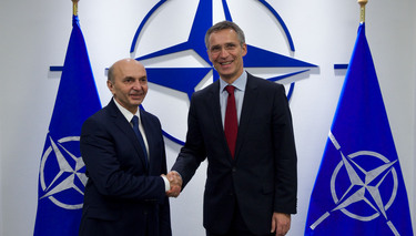 Visit to NATO by Isa Mustafa of Kosovo