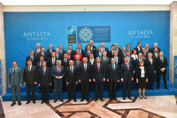 Meetings of NATO Foreign Ministers - Official greeting by the NATO Secretary General and the Minister of Foreign Affairs of Turkey followed by the Family photo