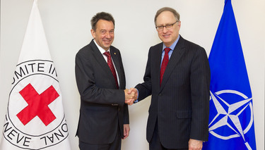 NATO Deputy Secretary General meets President of the International Committee of the Red Cross