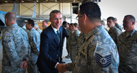 NATO Secretary General visits US military bases
