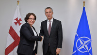 The Minister of Defence of Georgia visits NATO