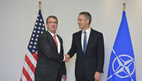 Meetings of the Defence Ministers at NATO Headquarters in Brussels - Bilateral Meeting between NATO Secretary General and US Secretary of Defense