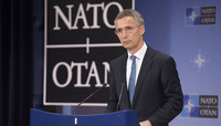 Meetings of the Defence Ministers at NATO Headquarters in Brussels - Press Conference NATO Secretary General Jens Stoltenberg