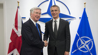 Meetings of the Defence Ministers at NATO Headquarters in Brussels - Bilateral meeting between NATO Secretary General and the UK Minister of Defence