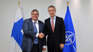 The Minister of Foreign Affairs of Finland visits NATO