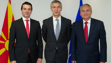 Visit to NATO Headquarters of the Minister of Foreign Affairs and Minister of Defence of the former Yugoslav Republic of Macedonia¹