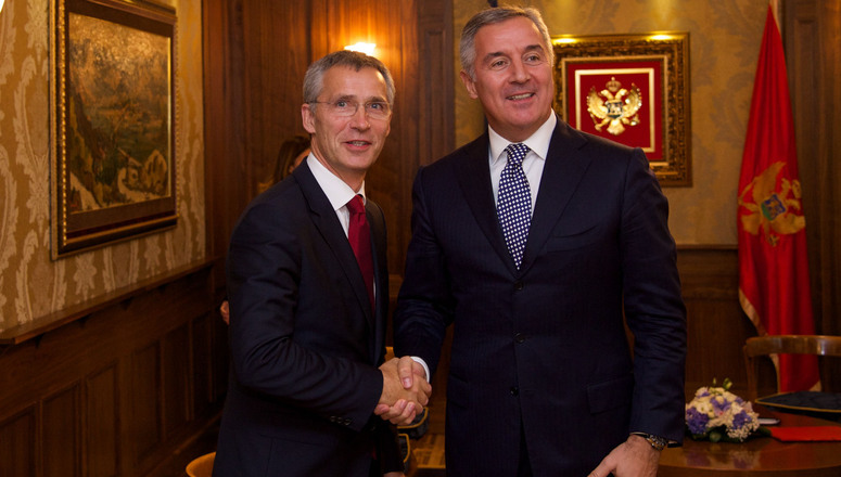 NATO Secretary General Jens Stoltenberg meets with the Prime Minister of Montenegro, Milo Djukanovic