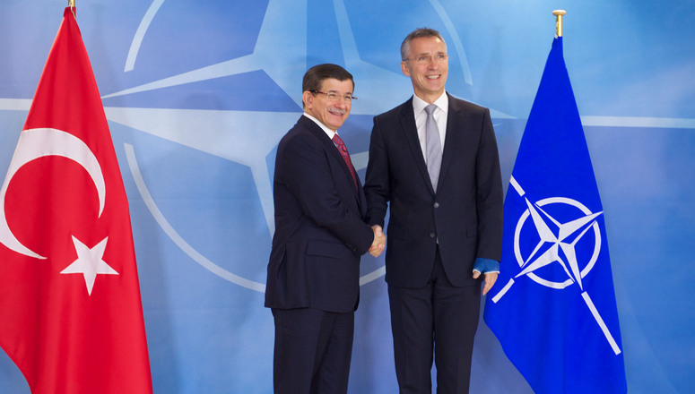 NATO Secretary General Jens Stoltenberg meets with the Prime Minister of Turkey, Ahmet Davutoglu