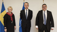 Meetings of the Foreign Ministers at NATO Headquarters in Brussels - Meeting between NATO Secretary General and the Ministers of Foreign Affairs of Finland and Sweden