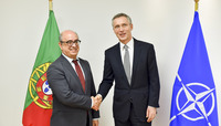 Meetings of the Defence Ministers at NATO Headquarters in Brussels - Bilateral meeting between NATO Secretary General and the Minister of Defence of Portugal
