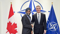 Meetings of the Defence Ministers at NATO Headquarters in Brussels - Bilateral meeting between NATO Secretary General and the Minister of Defence of Canada