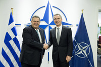 Meetings of the Defence Ministers at NATO Headquarters in Brussels - Bilateral meeting between NATO Secretary General and the Minister of Defence of Greece