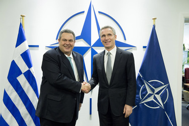 Bilateral meeting between NATO Secretary General and the Minister of Defence of Greece