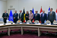 Meetings of the Defence Ministers at NATO Headquarters in Brussels - MOU on Multinational Cooperation for Precision Guided Munitions (PGM)