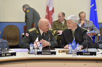 Meetings of the Chiefs of Defence at NATO Headquarters in Brussels - MC-CS with Georgia