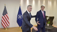 Meeting of the Foreign Ministers at NATO Headquarters in Brussels - Bilateral Meeting between NATO Secretary General and the US Secretary of State