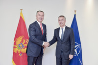 Meeting of the Foreign Ministers at NATO Headquarters in Brussels - Bilateral Meeting between NATO Secretary General and the Prime Minister of Montenegro