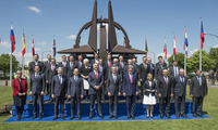 Meeting of the Foreign Ministers at NATO Headquarters in Brussels - Offcial Group photo with Montenegro