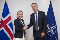 Meeting of the Foreign Ministers at NATO Headquarters in Brussels - Bilateral meeting between NATO Secretary General and the Minister of Foreign Affairs of Iceland