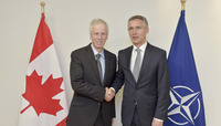 Meeting of the Foreign Ministers at NATO Headquarters in Brussels - Bilateral between NATO Secretary General and the Minister of Foreign Affairs of Canada