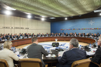 Meeting of the Foreign Ministers at NATO Headquarters in Brussels - North Atlantic Council Meeting with EU, Finland and Sweden