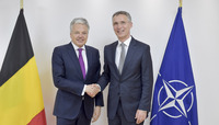 Meeting of the Foreign Ministers at NATO Headquarters in Brussels - Bilateral Meeting between NATO Secretary General and the Minister of Foreign Affairs of Belgium