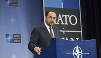 Meeting of the Foreign Ministers at NATO Headquarters in Brussels - Press Conference Minister of Foreign Affairs of Afghanistan
