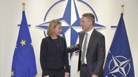 Meetings of the Ministers of Foreign Affairs at NATO Headquarters in Brussels - Bilateral Meeting between NATO Secretary General and the EU High Representative