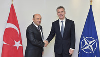 Meetings of the NATO Defence Ministers at NATO Headquarters in Brussels - Bilateral meeting between NATO Secretary General and the Minister of Defence of Turkey