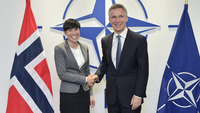 Meetings of the NATO Defence Ministers at NATO Headquarters in Brussels - Bilateral meeting between NATO Secretary General and the Minister of Defence of Norway
