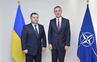 Meetings of the NATO Defence Ministers at NATO Headquarters in Brussels - Bilateral Meeting between NATO Secretary General and the Minister of Defence of Ukraine