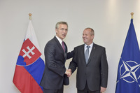 Meetings of the NATO Defence Ministers at NATO Headquarters in Brussels - Bilateral meeting between NATO Secretary General and the Defence Minister of Slovakia
