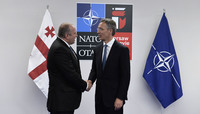 Bilateral meeting between the NATO Secretary General and the President of Georgia- NATO Summit Warsaw