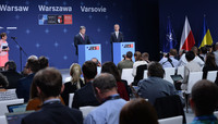 Joint press conference with the NATO Secretary General and the President of Ukraine - NATO Summit Warsaw