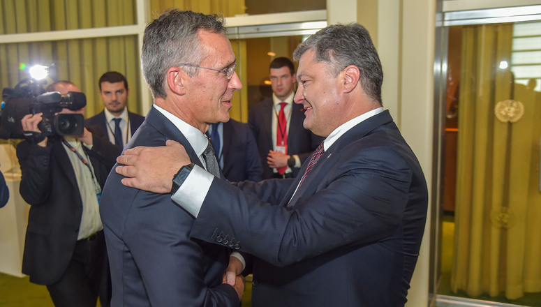 Bilateral meeting between NATO Secretary General Jens Stoltenberg and the President of Ukraine, Petro Poroshenko