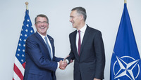 Meetings of the NATO Defence Ministers at NATO Headquarters in Brussels - Bilateral meeting between NATO Secretary General and US Secretary of Defense