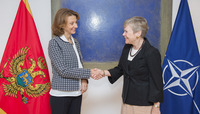Meetings of the NATO Defence Ministers at NATO Headquarters in Brussels - Bilateral meeting between NATO Deputy Secretary General and the Defence Minister of Montenegro