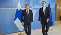 President of Finland visits NATO