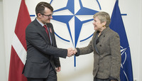State Secretary from the Ministry of Defence of Latvia visits NATO