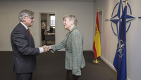 The Secretary of State for Foreign Affairs of Spain visits NATO