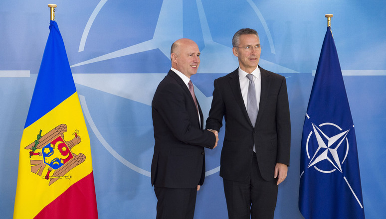 NATO Secretary General, Jens Stoltenberg and the Prime Minister of the Republic of Moldova, Mr. Pavel Filip