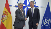 Meetings of the NATO Foreign Ministers at NATO Headquarters in Brussels - Bilateral meeting between NATO Secretary General and the Minister of Foreign Affairs of Spain